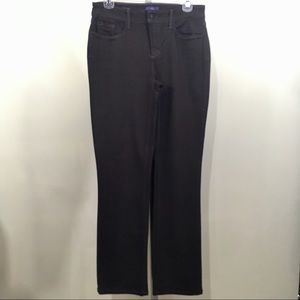 NYDJ Marilyn Brown Straight Stretch Jeans Size 4